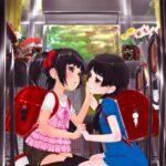 【糸引きキス】ロリっ子が大人のディープキスで唾液で糸引きながら夢中になってるロリディープレズキスエロ画像!
