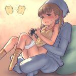 【ゲーム中いたずらロリ】ゲームに夢中になってるロリ少女にエッチないたずらして邪魔したり妨害してるロリ少女へのいたずらエロ画像!